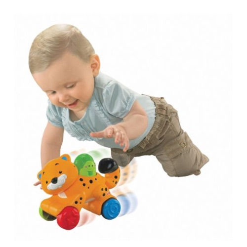 Jouet fisher price leopard press and go
