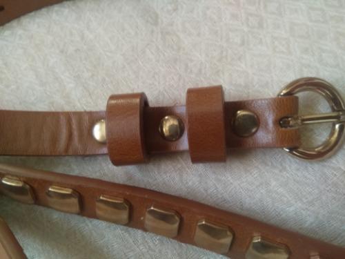 Lot de deux ceintures en couleur Camel