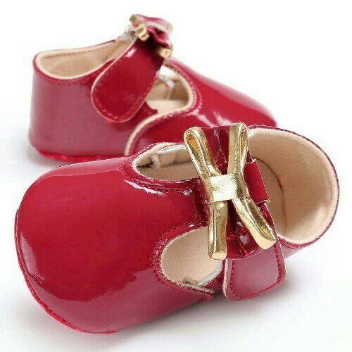 Chaussures bébé fille rouge