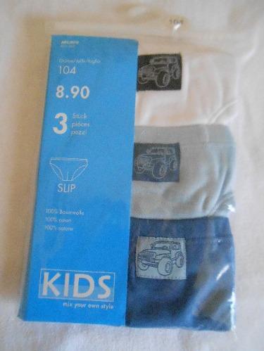 Lot de 3 slips garçons neuf 100 coton age 4 ans