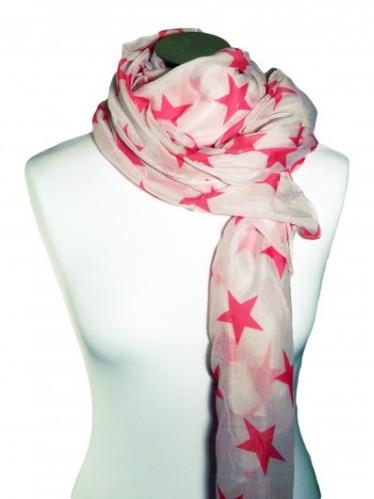 Foulard à étoiles roses