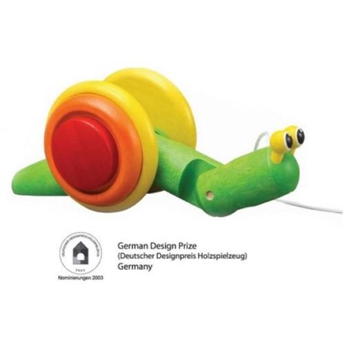 Escargot à tirer Plan Toys