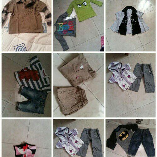 Lot de vêtements pour garcon (18mois et 2ans)