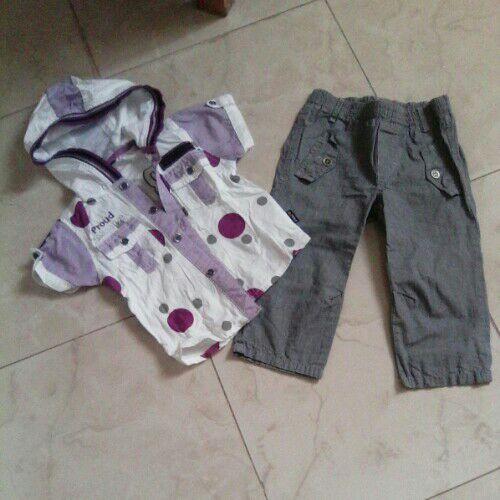 Chemise et pantalon 2ans tres chic pour bébé