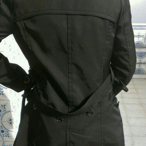 Trench sasio taille s noire tres classe et sport