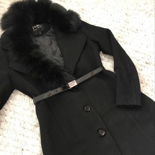 Manteau noir en cachemir