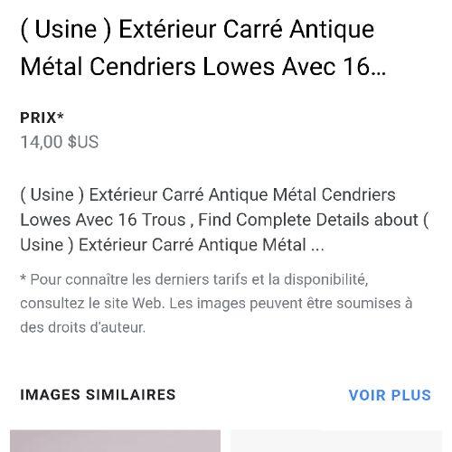 Cendrier métallique 16  trous
