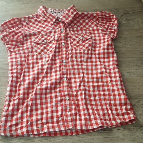 Chemise fille vichy rouge persival