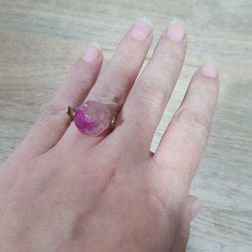 Bague fodha pierre quartz rose