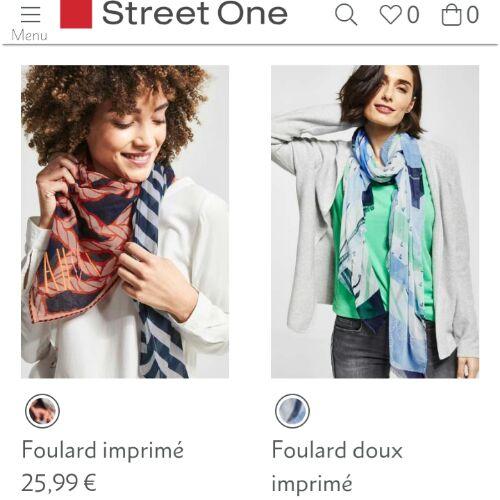Deux petit écharpes de la marque street one