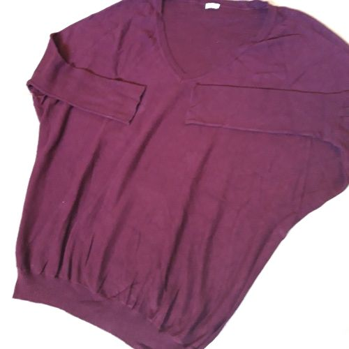 Pull rouge Bordeaux pimkie