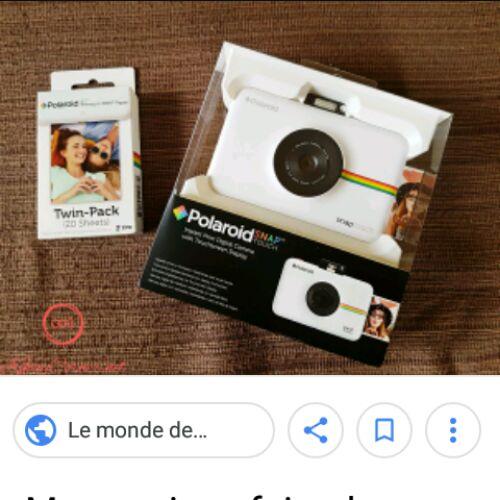 Photo pour aparail photo (polaroid snap )